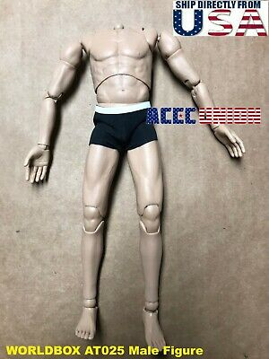 1/6 WORLDBOX AT025 Narrow Shoulder Male Figure Body Durable For Hot Toys U.S.A.
