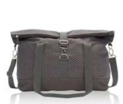 Thirty One Fold Over Weekender Bag Travel Tote City Charcoal