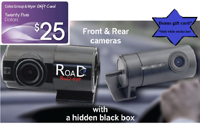 RoaD-eye RE350 - 2ch DASHCAM - 3yr Warranty + BONUS $25 Coles Group Gift Card