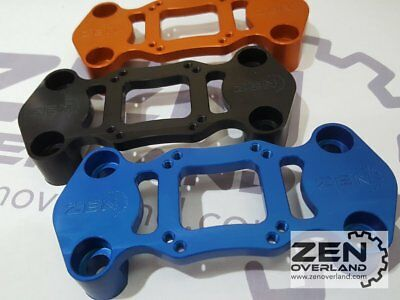 Zen Overland - KTM CNC Top Bar Clamp GPS mount Garmin 300 EXC 300EXC 350 EXCF BL