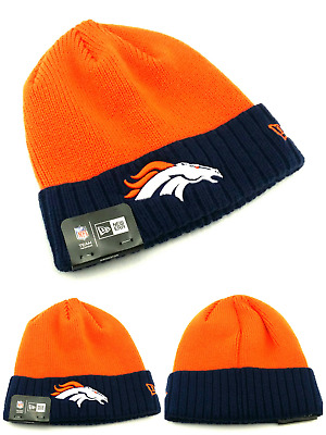 f6d6cf178fab22 Denver Broncos New Era 2 Tone Orange Blue Lined Toque Cuffed Knit Beanie  Hat Cap