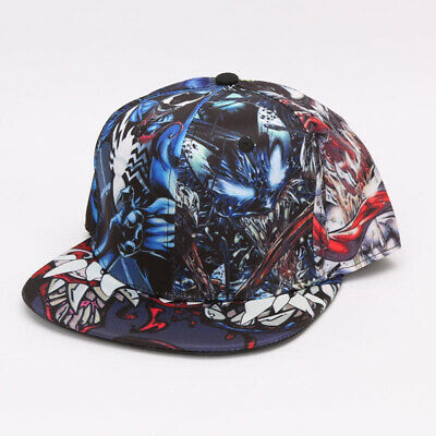68b51da19 MARVEL COMICS VENOM Symbiote Logo Licensed Adjustable Snapback Cap ...