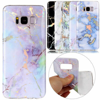 Samsung Galaxy S10 S9 S8 Plus S7 Edge Marble Silicone TPU Soft Back Case Cover