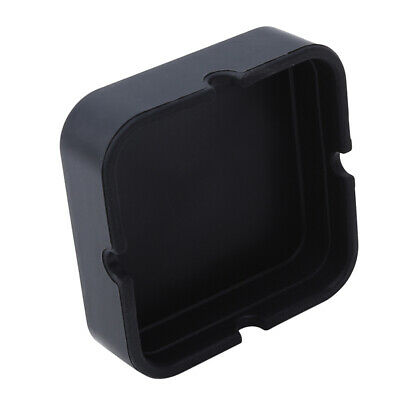 Black Silicone Cigarette Ashtray Household Smokers Ash Container Tobacco Tray BS