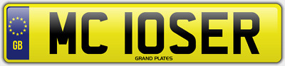 Loser Number Plate Mc10 Ser Cherished Uk Car Reg Hilarious Mc Loser Uk Legal Reg