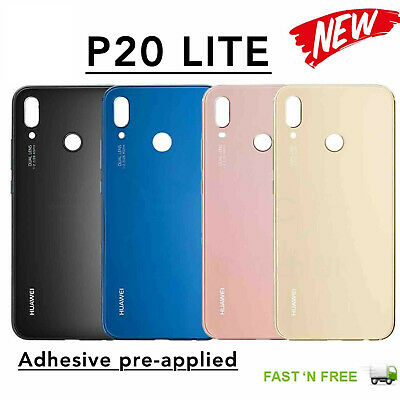 Huawei P20 Lite OEM Rear Glass Battery Back Cover With Adhesive Replacement Part