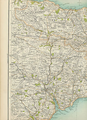 2310 1898 MAP of Royal Atlas of England & Wales Pl.45 EXETER (Devonshire)