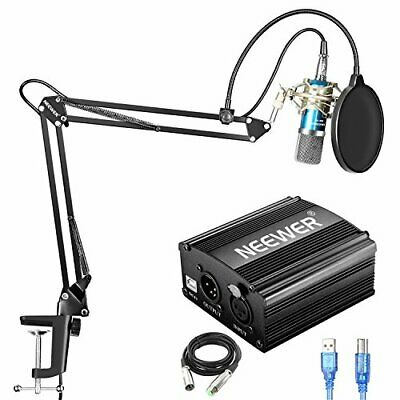 Neewer condenser microphone blue NW-700 set USB 48V phantom power NW-35... JAPAN