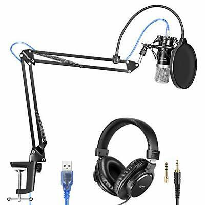 Neewer microphone set black silver USB suspension scissor arm stand sho... JAPAN