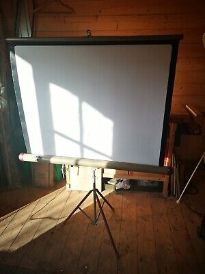 Vintage slide projection projector screen. British made 1960s ~ One Frps owner