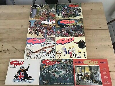Giles Annuals (Cartoon Books) x 9 - Issue 40,41,42,43,44,45,46,47 And 49  PK4
