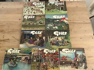 Giles Annuals (Cartoon Books) x 9 - Issue 19,21,24,25,26,27,29,34 And 36  PK2