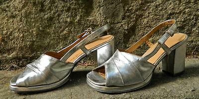 VINTAGE Jane Debster Melody 1960s-70s Cocktail Glamour Leather Heels Size 4 1/2