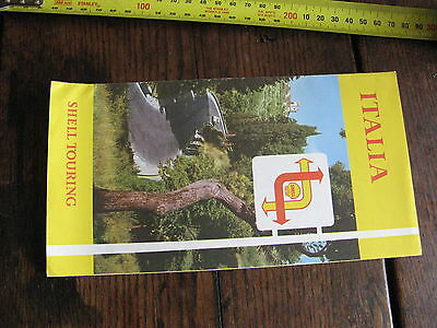 Shell Italia Italian Touring Map c1960