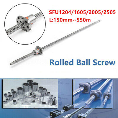 Ball Screw SFU1204/1605/2005/2505 L150mm-550mm End Support & Ballnut Housing CNC