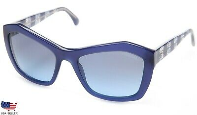 324f692a59 NEW CHANEL 5296 1483 S2 BLUE LACE  BLUE LENS SUNGLASSES 56-19-140 ...