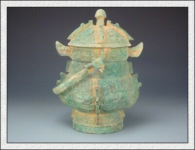 Ancient China Rare Wonderful Collectable Chinese Old Bronze Lifting Pot