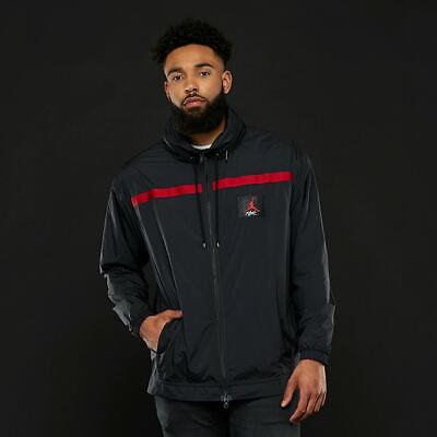 a0ab068bc532a4 Nike Jordan Sportswear Wings of Flight Men s Windbreaker Black Gym Red M