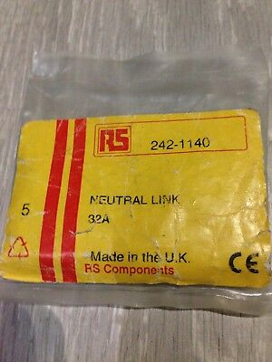5x RS Neutral Links 32A