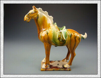 Nice Wonderful Chinese Tang SanCai Glaze Horse Statues