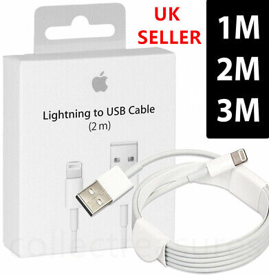 USB Lightning Charger Lead Cable 1M 2M 3M For Apple iPhone XR XS X 8 7 6 iPad UK