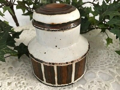 Vintage DENBY Made in England Stonehenge Midwinter Earth Sugar Bowl & Cover