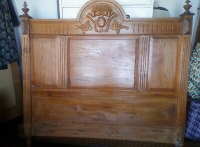 bedstead wooden hand carved french