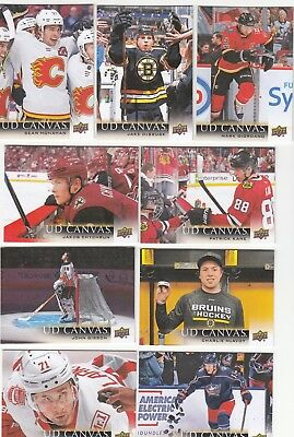 2018-19 Upper Deck UD Canvas - Pick the cards of your choice.
