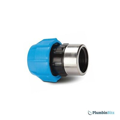 """Polypipe Polyfast 25mm x 3/4"""" BSP Straight Adaptor 40325 for MDPE pipe"""