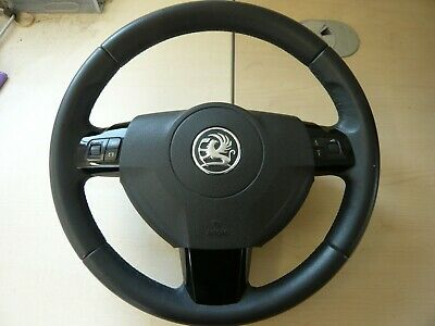 Vauxhall Zafira B Astra H Steering Wheel With Control Switches In Black