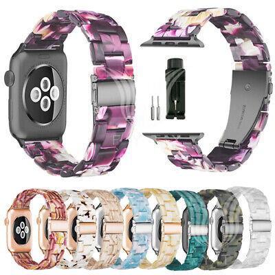 Fashion Resin Watch Band Strap Bracelets For Apple Watch 4/3/2/1 38/40/42/44mm