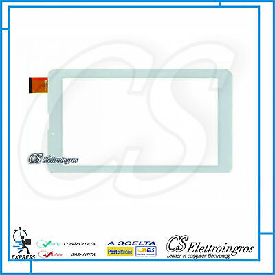 TOUCH SCREEN Per Majestic TAB 747 HD 3G VETRO Tablet Digitizer 7.0 Bianco