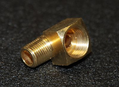 "Brass Fittings: Inverted Flare Elbow, Male Pipe 1/8"", Tube OD 5/16"", QTY. 1"
