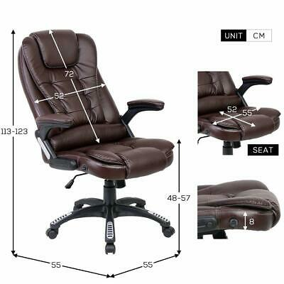 5 Point Designed Massage Office Computer Chair Executiv Leather Swivel Reclining