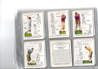 cigarette cards golf 1939 full set