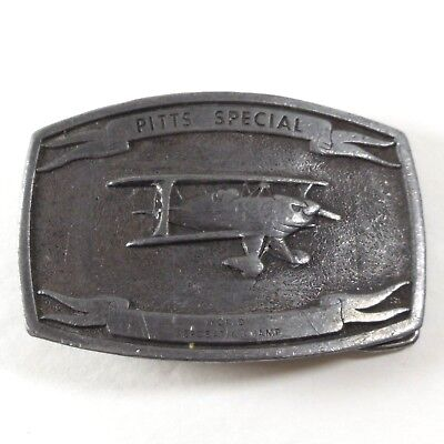 Vintage Pitts Special World Aerobatic Champ Belt Buckle 1974 Engin-Air Inc Lewis