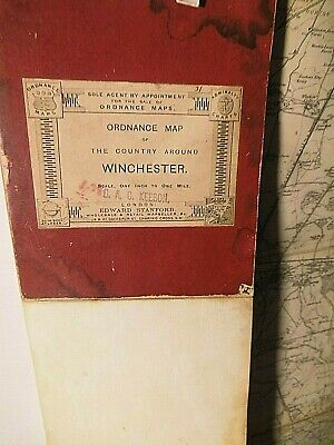 Winchester,southampton, Hampshire:c1890's Victoran Bespoke Ordnance Map.stanford