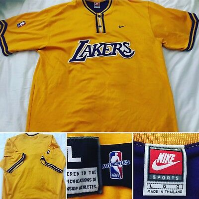 Los Angeles Lakers Nike NBA Authentic Size Large Embroidered Vintage Jersey f2b13e4ef