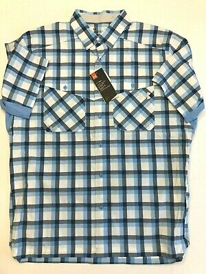08949506 NEW Under Armour Fish Hunter Plaid Short Sleeve Men's Size Large 1327484