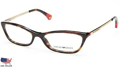 8ef57f343d NEW Emporio Armani EA 3014 5026 DARK HAVANA EYEGLASSES GLASSES 52-16-135  B28mm
