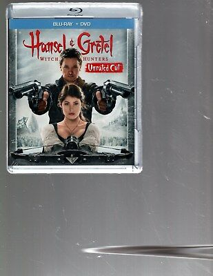 HANSEL & GRETEL WITCH HUNTER/Geremy Renner/BLU RAY+DVD/BUY ANY 4 ITEMS SHIP FREE