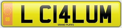 Callum L number plate Callums CHERISHED CAR REG CAL CALS LC14 LUM NO ADDED FEES