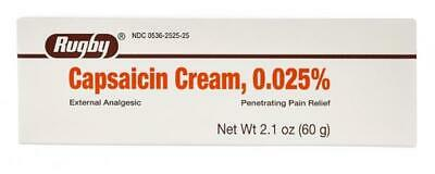 Rugby Capsaicin 0.025% Cream, Arthritis Pain Relief, 2.1oz - Expiration 02-2021