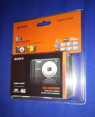 LOW PRICE! NEW Sony Cyber-Shot DSC W800 Digital Camera CyberShot 20.1 MP HD 720p