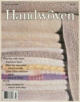 Handwoven mag mar/apr 1989: weaving with linen LINEN, blouse, jacket, TOWELS +
