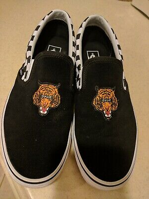 77938fac11a Vans Slip On Tiger Pack Japan Black White Checker Suede New MENS US 10  Limited