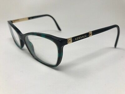 540c47bf5f96 VERSACE Womens Eyeglasses Italy Mod.3186 5076 54-16-140 Emerald Tortoise  TY97
