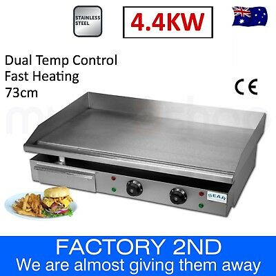 Commercial Electric Griddle Grill Hot Plate Stainless Steel BBQ - Factory 2nd