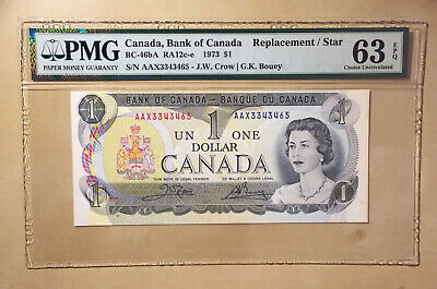 Canada BC-46bA 1973 One Dollar Crow | Bouey PMG 63 EPQ - **STAR / REPLACEMENT**