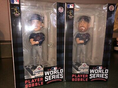 Chicago Cubs Bobblehead Lot Kris Bryant Jake Arrieta Fly The W World Series